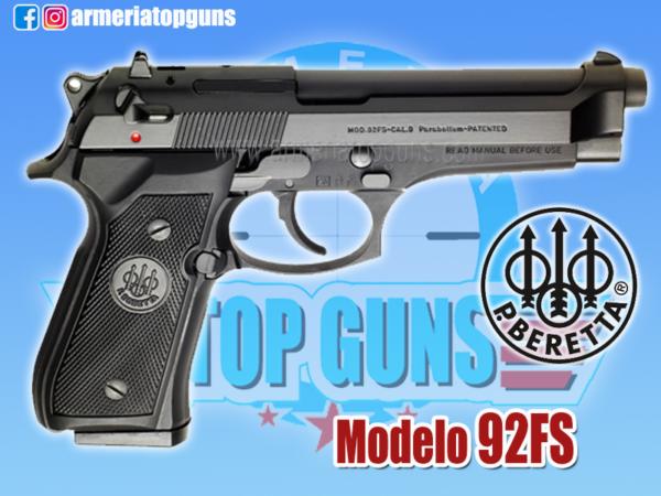 PISTOLA MARCA BERETTA MODELO 92FS, CALIBRE 9x19mm