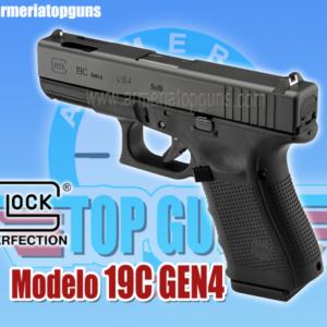 PISTOLA MARCA GLOCK MODELO 19C GEN4 CALIBRE 9x19mm
