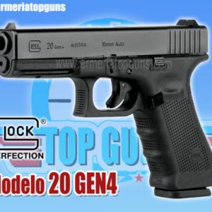 PISTOLA MARCA GLOCK MODELO 20 GEN4, CALIBRE .10mm