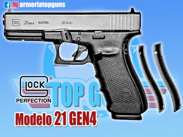 PISTOLA MARCA GLOCK MODELO 21 GEN4, CALIBRE .45mm