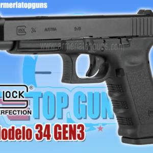 PISTOLA MARCA GLOCK MODELO 34 GEN3 CALIBRE 9x19mm