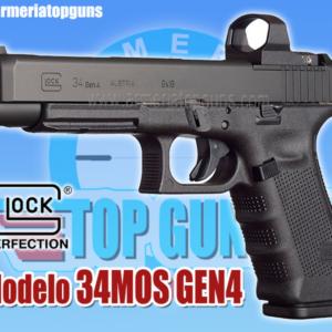 PISTOLA MARCA GLOCK MODELO 34 GEN MOS CALIBRE 9x19mm