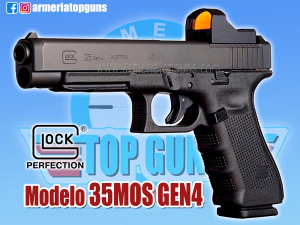 PISTOLA MARCA GLOCK MODELO 35 GEN3, MOS CALIBRE .40