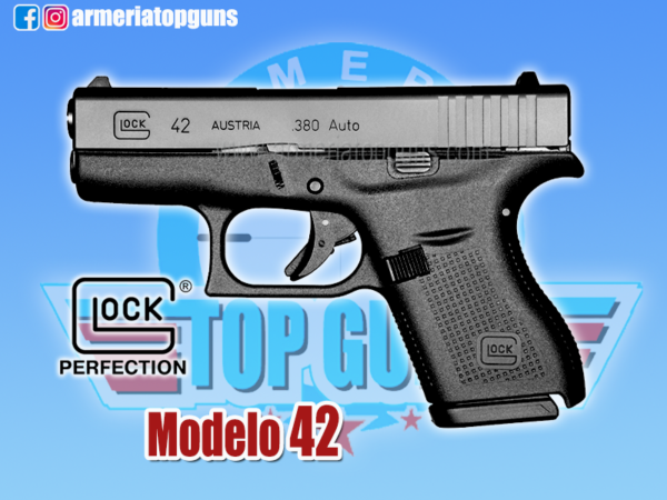 Pistola marca GLOCK modelo 42