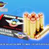 Caja de Balas marca FREEDOM, calibre .357, 125Grs, PUNTA HUECA (HP), Armeria Top Guns