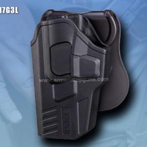 FUNDA R-DEFENDER GENERACION 3 PARA GLOCK DE ZURDO Se Adapta A Glock modelos 17,22, 31(GEN 1,2,3,4,5)