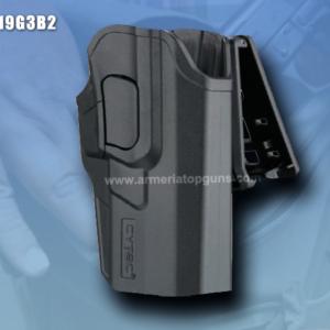 FUNDA R-DEFENDER GENERACION 3 PARA GLOCK CON BASE CLIP Se Adapta A Glock modelos 19,23,25,32(GEN 1,2,3,4,5)