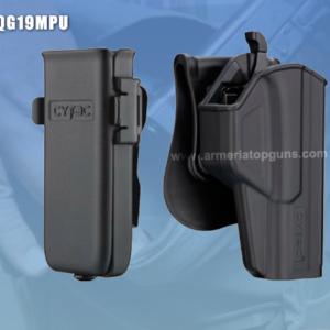 COMBO FUNDA T-THUMBSMART Se Adapta A Glock Gen5 modelos 19, 23, 25, 32(GEN 1,2,3,4) MAS UNA PORTA CACERINA UNIVERSAL