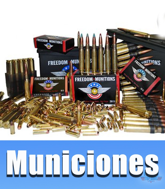 Municiones calibre 22lr, 6.35, 38.auto, 9x19mm, .40, .45