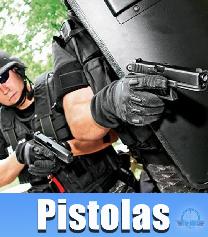 Pistolas Calibre 380, 9x19mm, .40, .45auto